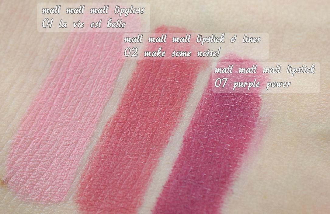 essence matt matt matt lipstick Swatches 1