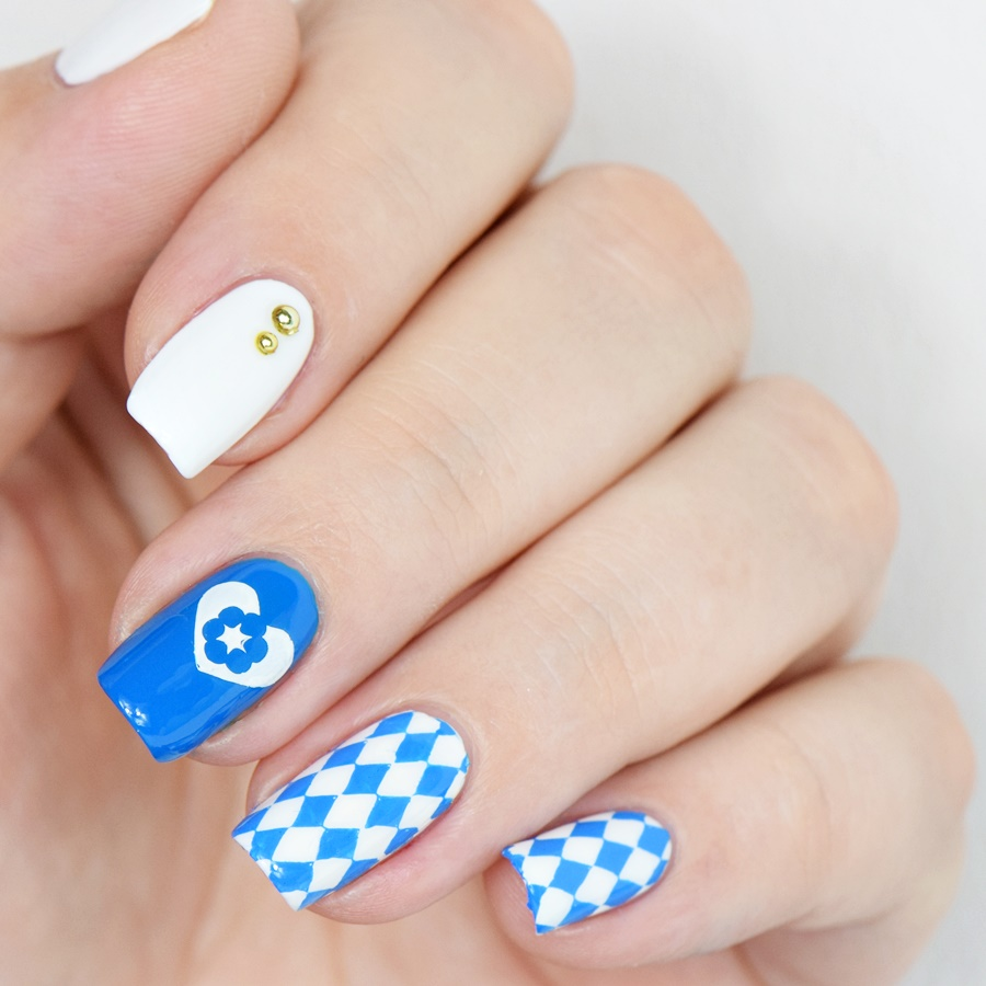 Oktoberfest Nageldesign 2016: Wiesn Nails selber machen