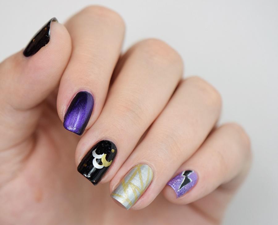 Sailor Moon Queen Nehelenia Nails
