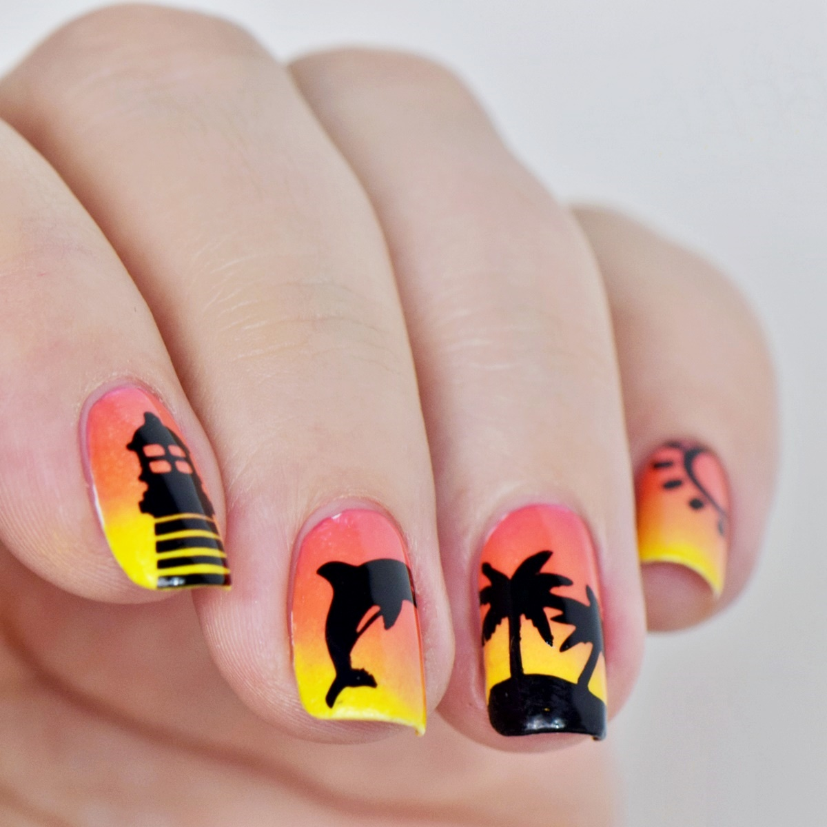 Ausgezeichnet Sommer Nageldesign Tutorial: Sunset Nails | NisiNails FA03
