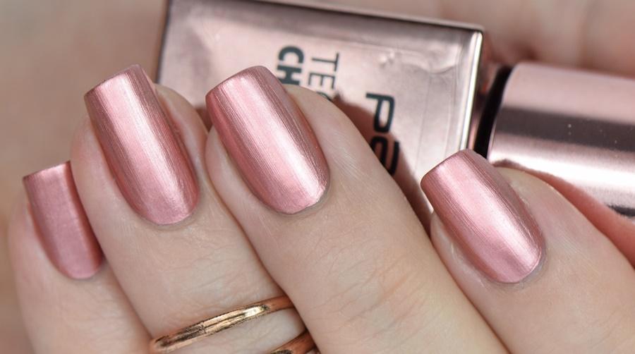 p2 Techno Chrome Nagellack 030 bronze cut Tragebild Review und Swatches