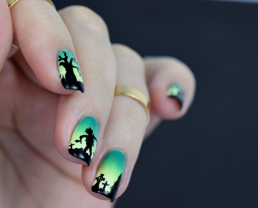 Halloween Nägel.Halloween Nägel The Walking Dead Nisinails