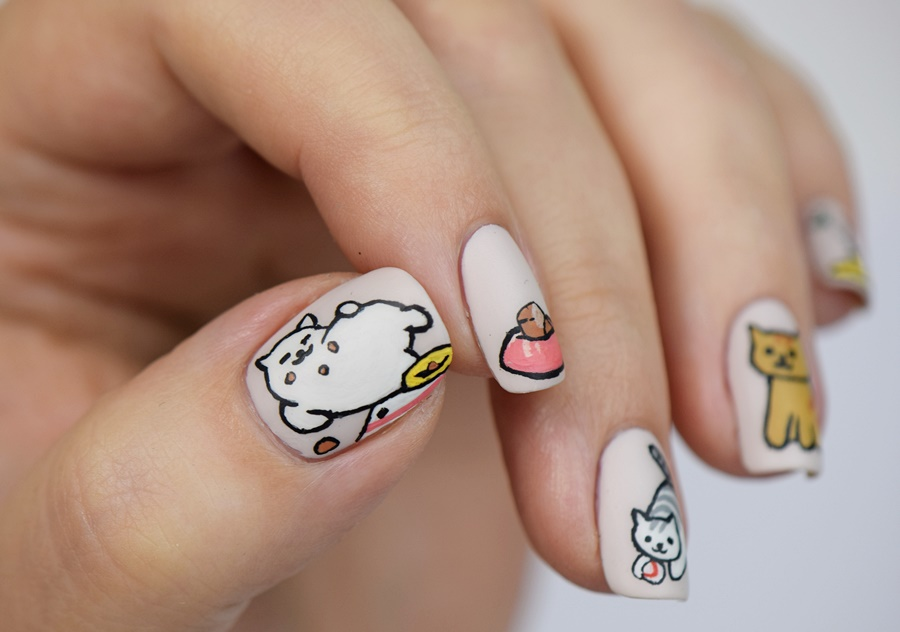 neko-atsume-nageldesign-2016-katzen-naegel