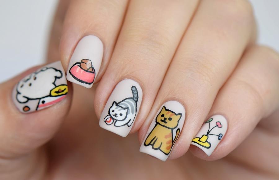 neko-atsume-nail-art-katzen-nageldesign-selber-machen-nagellack-blog