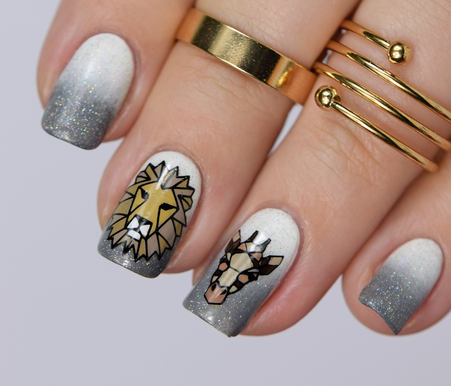 Origami Tiere Stempel Nageldesign mit Moyou London