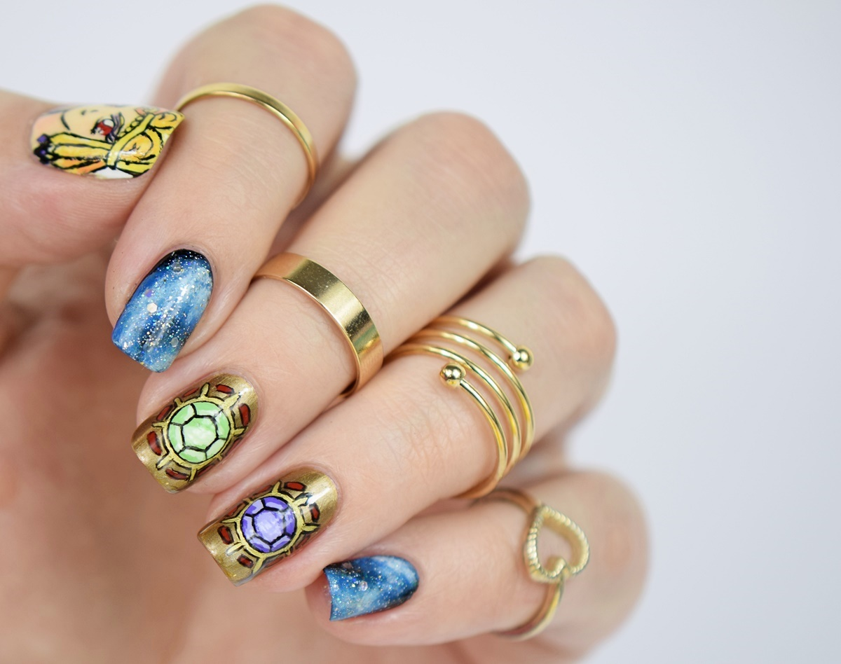 Sailor Moon Blogparade von Talasias Dreamz: Sailor Galaxia Nageldesign