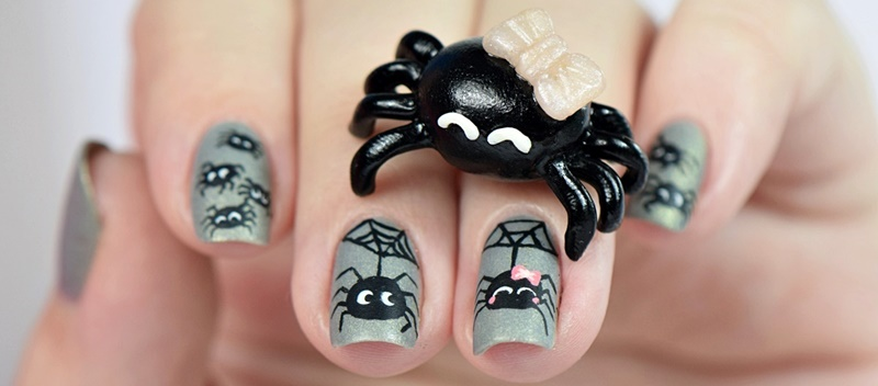 spinnen-halloween-nageldesign-by-nisinails-fimo-figur-selber-machen-polymer-clay