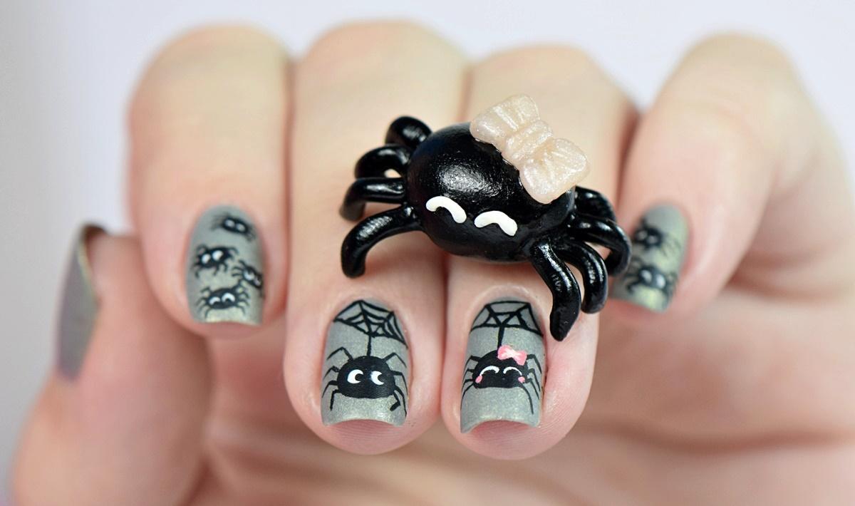 spinnen-halloween-nageldesign-by-nisinails-fimo-figur-selber-machen