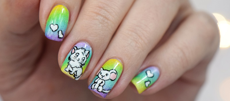 Inspired By Narmai Katze Maus Nageldesign Nisinails