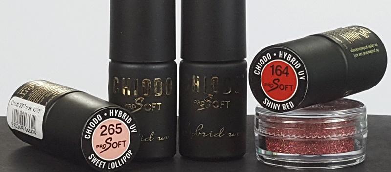 Chiodo Pro Soft Hybrid UV Lacke und Fuchsia Holo Pigment